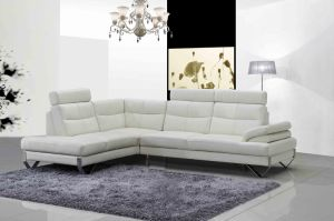 Modern White Leather Corner Sofa L Shaped Sofa Design for Living Room Furniture pictures & photos