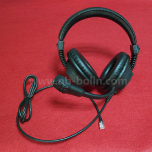 Mobile Phone Earphone Flat Cable Headband Headset 40mm Speaker pictures & photos