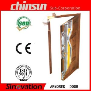 Best Selling Steel Wooden Armored Door with Good Quality (SV-A026) pictures & photos