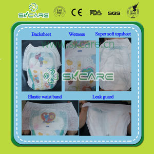 OEM Leak Guards Colorful Backsheet Baby Pull up Diapers pictures & photos