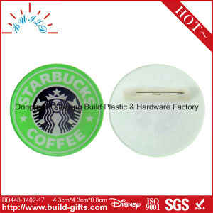 Acrylic Badge Acrylic Main Material and Pin on Badge Type Security Badge pictures & photos