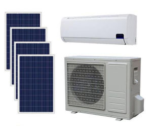 48V DC 100% Solar Energy Power Air Conditioner with 9000-18000BTU pictures & photos