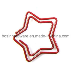 Star Shape Color Paper Clip pictures & photos
