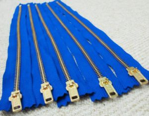 Metal Zipper for Clothing/Shoes/Bag/Jeans (3#/4#/5#/8#/10# Y Teeth Type)