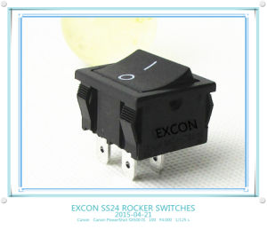 Switch Ss24 Series Square Rocker Switch with Size 21*24mm for Home Appliance pictures & photos