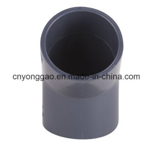 PVC DIN Standard Fitting High Pressure 45degree Elbow pictures & photos