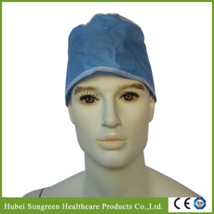 Disposable Non-Woven Surgeon Cap with Ties at Back pictures & photos