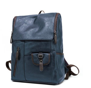 Luxurious New Genuine Leather Computer Laptop Notebook Backpack pictures & photos