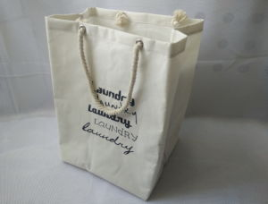 Canvas Laundry Bag and PE Coating Inside pictures & photos