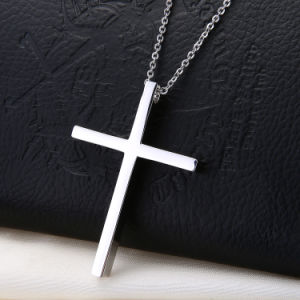 Popular Stainless Steel Jesus Pendant Silver Cross Pendant for Men pictures & photos
