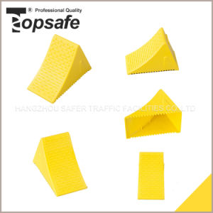 Yellow Color Plastic Wheel Chock pictures & photos