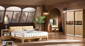 Modern Designed Wooden Bedroom Furniture Square Bed (UL-LF017) pictures & photos