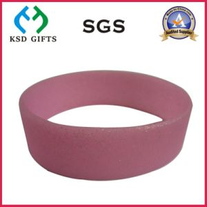 Pink Color Silicone/Silicon Bracelet with Glitter (KSD-883) pictures & photos