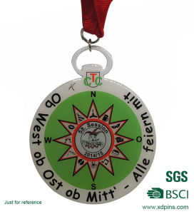 Fashion Round Shape Print Aluminum Medal for Sports Meet pictures & photos