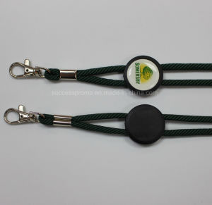 Custom Round Jacquard Lanyard with Epoxy Sticker pictures & photos