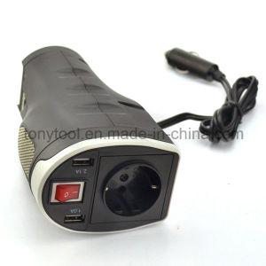 DC 12V Car Power Inverter with 2 AC Outlets and 3.1A Dual USB Charging Ports pictures & photos
