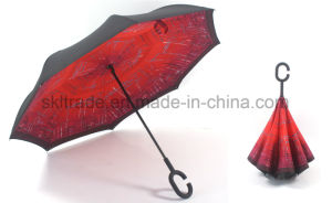 New Design Portable Handsfree Straight Reverse Inverted Umbrella pictures & photos