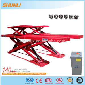 Ce Approved Four Wheel Alignment Hydraulic Scissor Lift Car pictures & photos