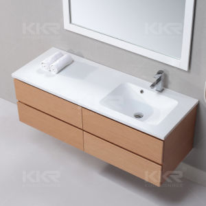 Pure White Acrylic Solid Surface Stone Countertop Washing Basin pictures & photos