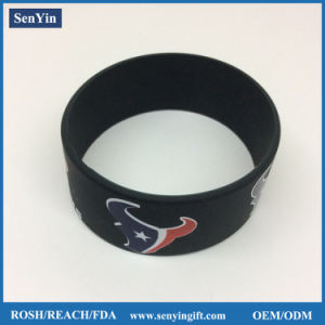 Factory Direct Manufacture High Quality Printed Debossed Silicon Bracelet pictures & photos