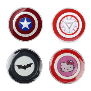 Avengers Captain American Qi Standard Wireless Charger Pad for Samsung Galaxy S7 S6 Wireless Charging Pad pictures & photos