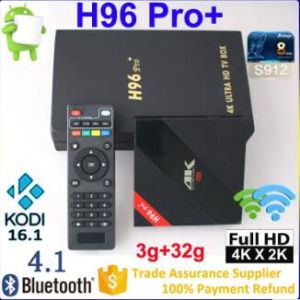 OEM Popular Smart TV Set Box, Bluetooth 4.0 Wi-Fi Supported and Kodi Pre-Installed
