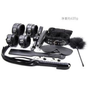 10PCS/Set Black Leather Bondage Set Kit Adult Game Sex Toy pictures & photos