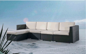Outdoor Leisure Rattan Alu Sofa pictures & photos