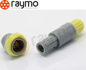 Raymo Push Pull Circular Plastic 5 Pin Pag Medical Cable Connector pictures & photos