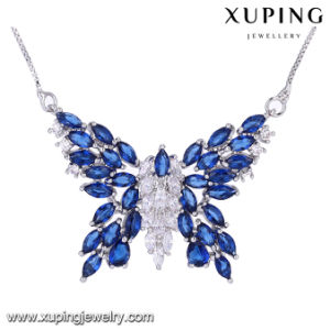 43898 Fashion Rhodium Plated Zirconia Luxury Butterfly Necklace pictures & photos