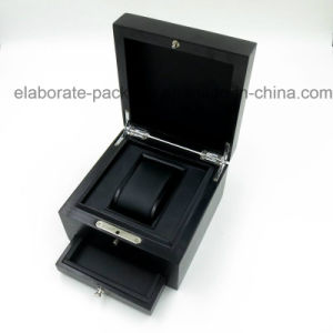 Personalized Design Black Wooden Watch Gift Package Box pictures & photos