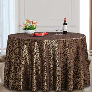 Cheapest Polyester Wedding Large Round Table Cloth (DPF10788) pictures & photos