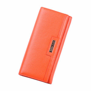 Orange Long Wallet and Women Fashion Purse pictures & photos