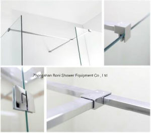 Bathroom 6mm Glass Wetroom Shower Wall with Side Panel (BN-WR100) pictures & photos