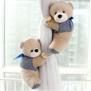 Cute Teddy Bear Curtains Buckle Plush Toys pictures & photos