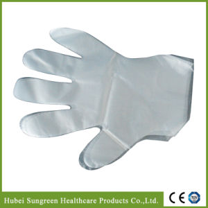 Disposable PE Plastic Gloves with Food Grade pictures & photos