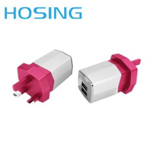 Dual USB Colorful Home Wall Charger for Smart Phones pictures & photos
