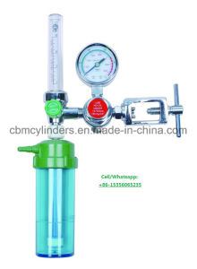Medical Oxygen Flowmeter W/ Humidifier Bottles for O2 Cylinders pictures & photos