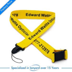 Flat Polyester Card Holder Printed Lanyard pictures & photos