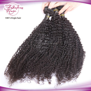 Natural Virgin Hair Kinky Curly Human Hair Extension pictures & photos