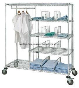 NSF Hygienic Chrome Metal Wire Shelving for Hospital pictures & photos