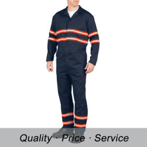 Wu-K34 Work Smock Hi-Vis Uniforms Reflective Coverall Navy Workwear for Men pictures & photos