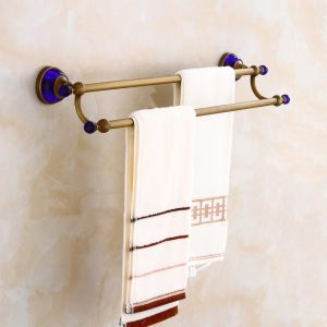 FLG Antique Bath Double Towel Bar Wall Mounted with Solid Brass pictures & photos