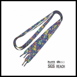 High Quality Print Boots Flat Shoelace String Laced up Laces Flat Athletic Shoelaces pictures & photos