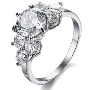 Fashion Designer Rhinestone Flower Woman Diamond Rings Stainless Steel Jewelry pictures & photos