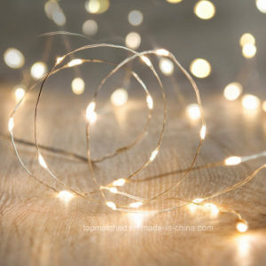 Christmas Hot Selling Battery Operated 40 Multi Color LED Fairy String Lights pictures & photos