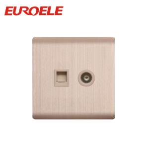 Aluminum Tel Socket+TV Socket and Data Socket +Satellite Socket pictures & photos