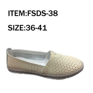 New Fashion Lady Flat Casual Leather Shoes pictures & photos