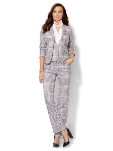 Casual Style Fashion Plaid 3 Piece Suit for Ladies pictures & photos