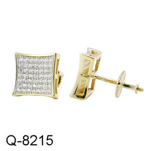 New Design 925 Silver Micro Pave CZ Men′s Earrings pictures & photos